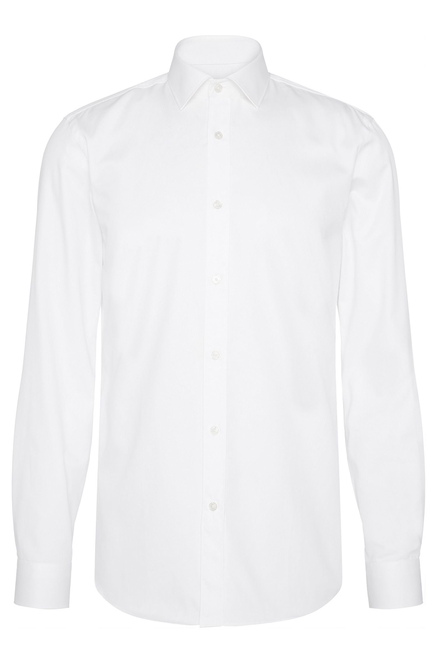 Chemise Slim Fit unie, en pur coton : « Isaak »