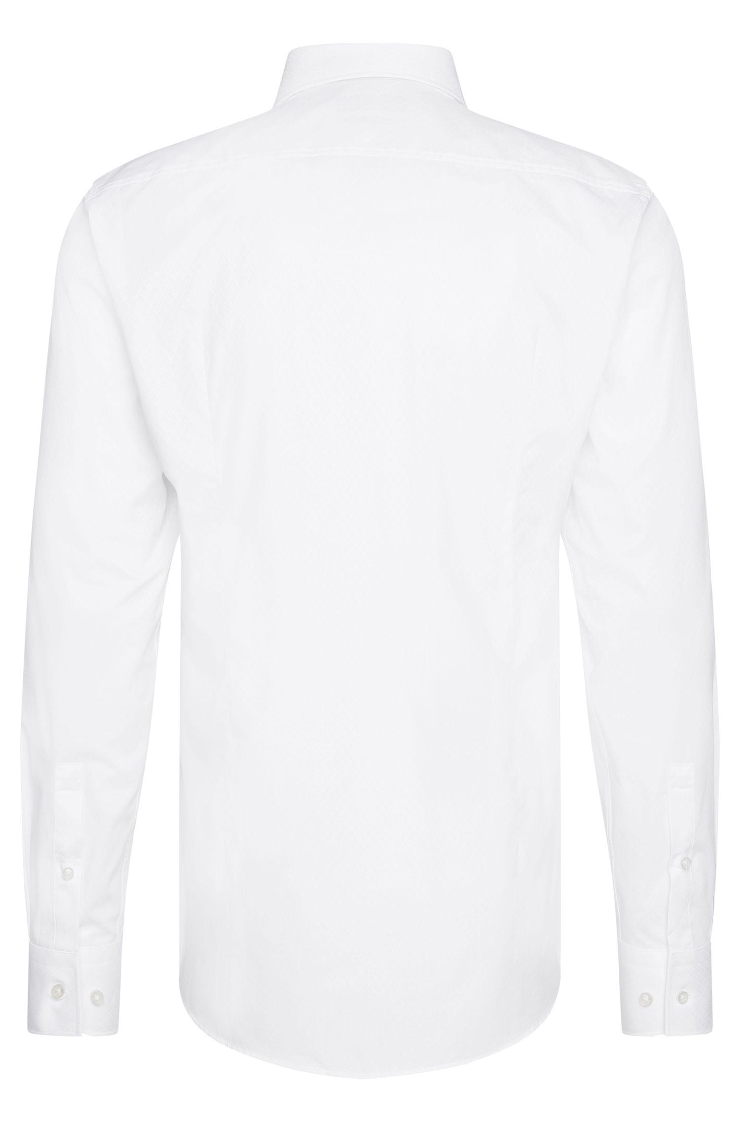 Fein strukturiertes Slim-Fit Hemd aus Baumwolle: 'Jason'