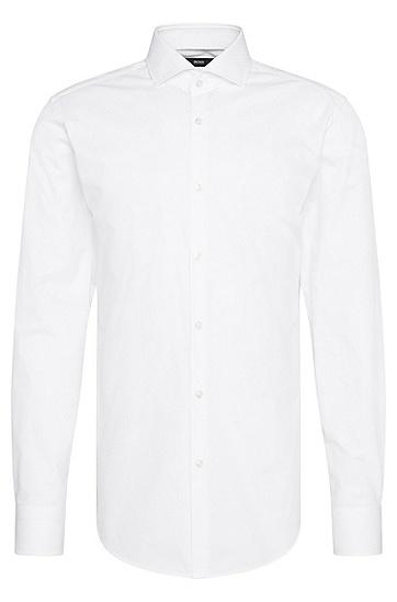 Fein strukturiertes Slim-Fit Hemd aus Baumwolle: 'Jason', Weiß