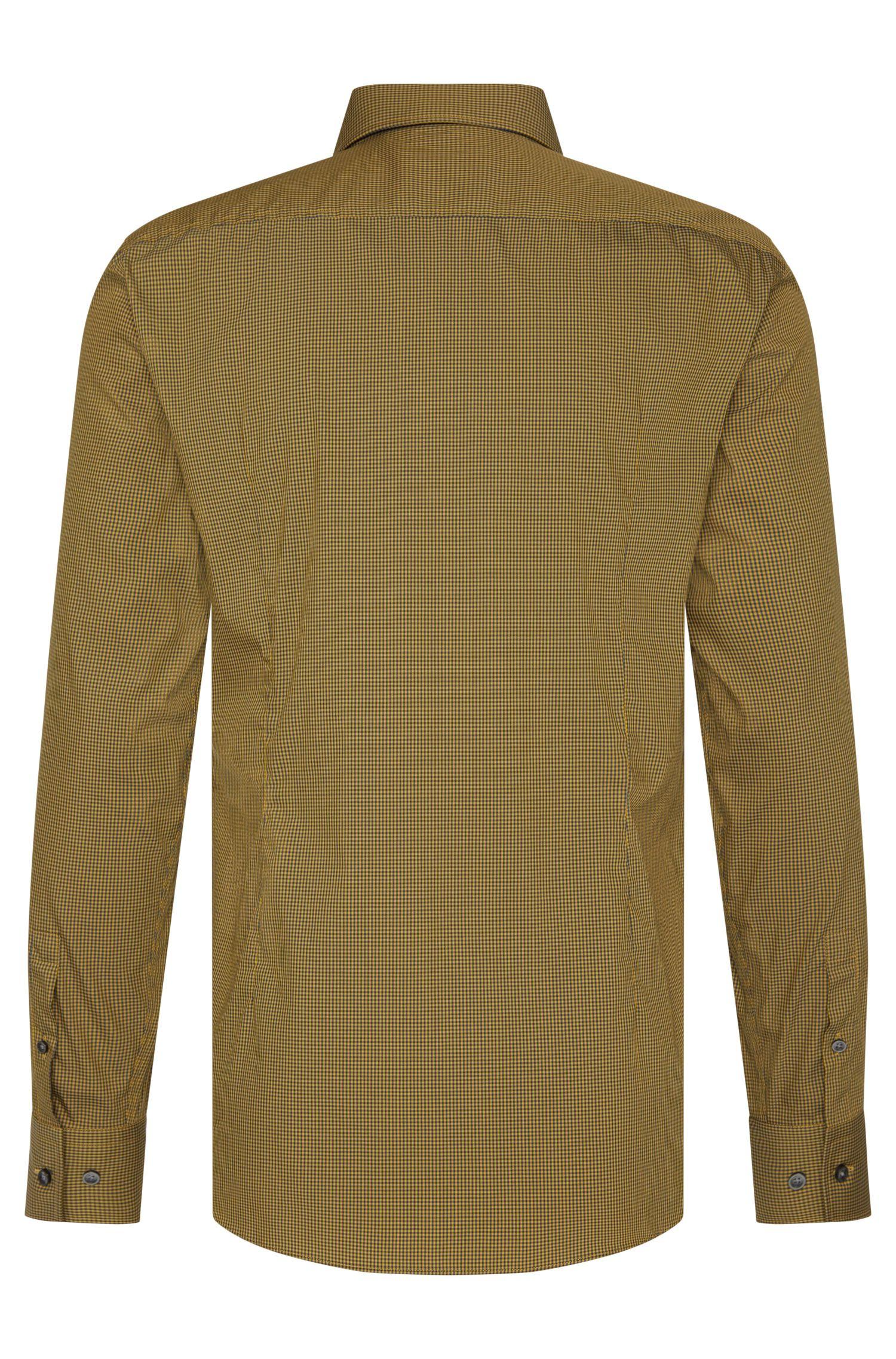 Fijngeruit slim-fit overhemd van een katoenmix: 'Jasor'