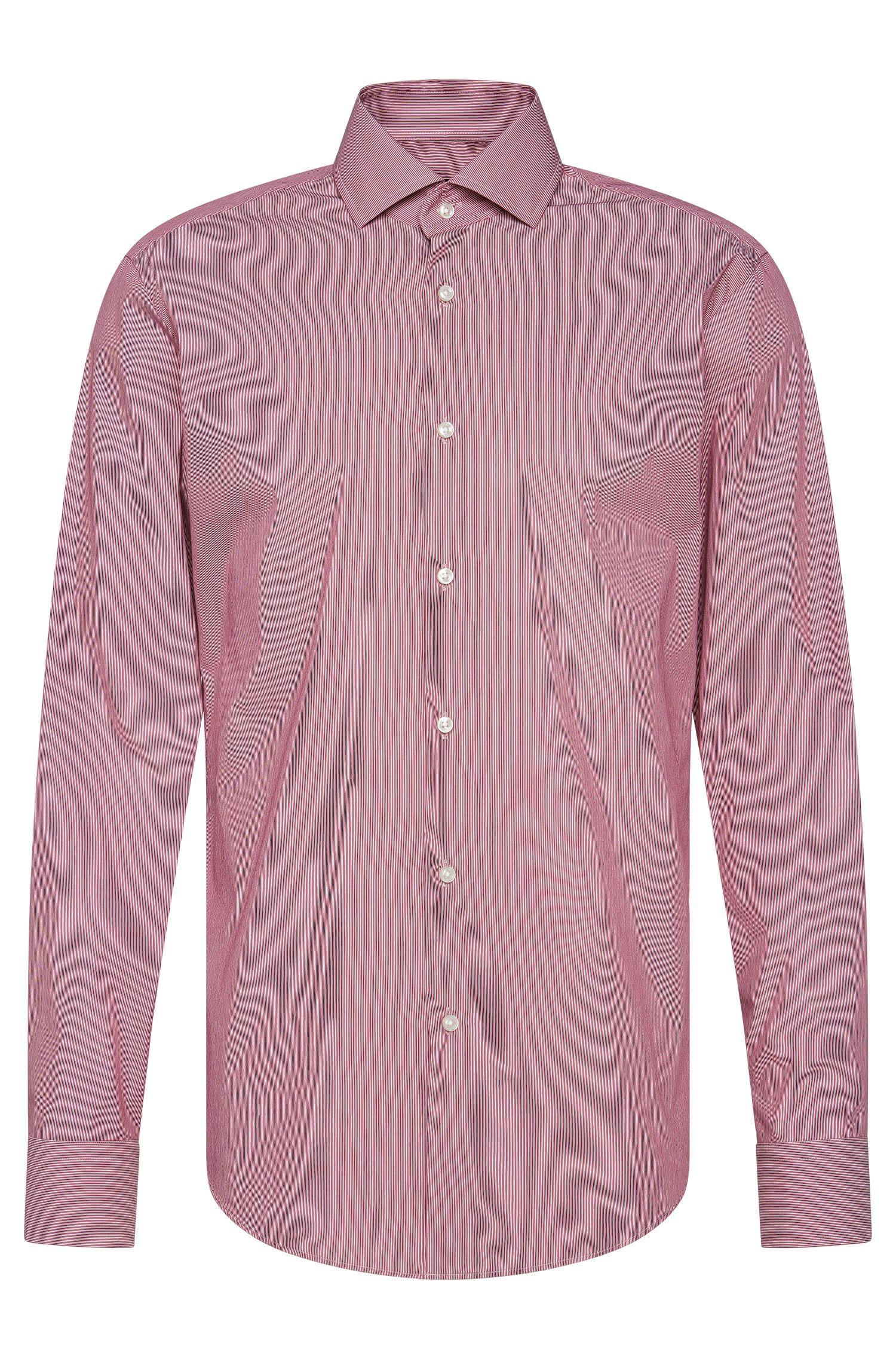 Fijngestreept, regular-fit overhemd van een elastische katoenmix: 'Gordon'