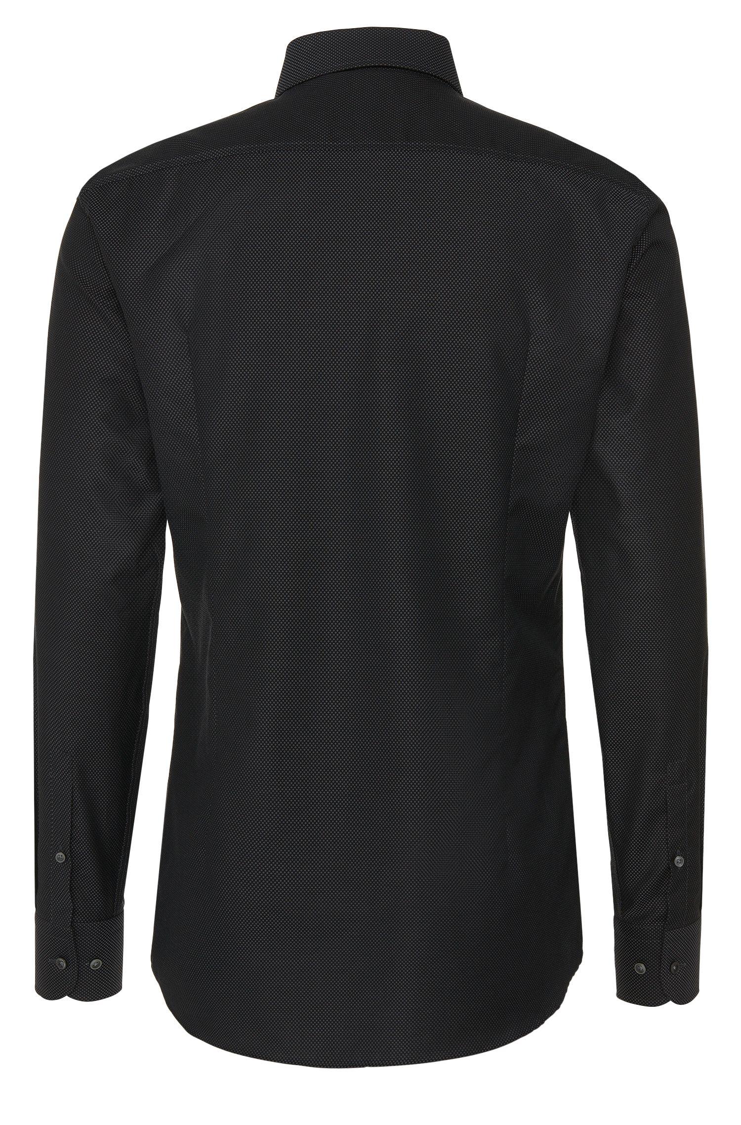 Fein gemustertes Slim-Fit Hemd aus reiner Baumwolle: 'Jerrin'