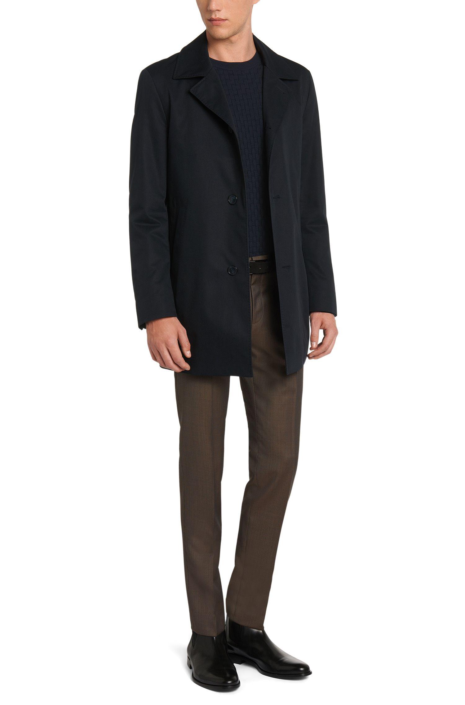 Regular-Fit Pullover aus Baumwolle mit Allover-Struktur: 'Subon'