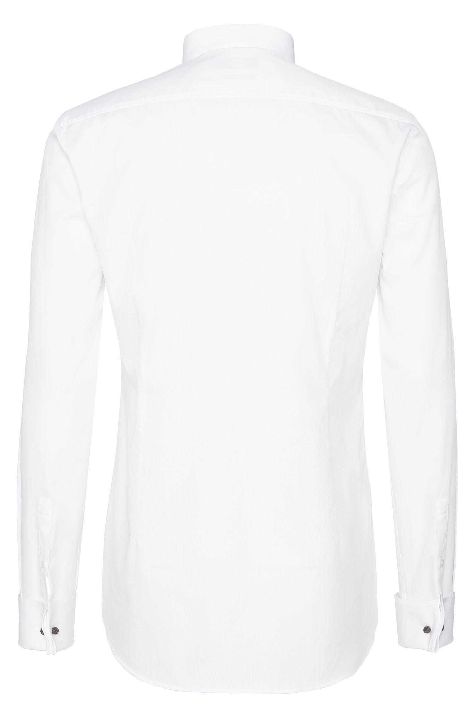 Slim-Fit Hemd aus reiner Baumwolle mit Stehkragen und Umschlagmanschetten: 'Jillik'