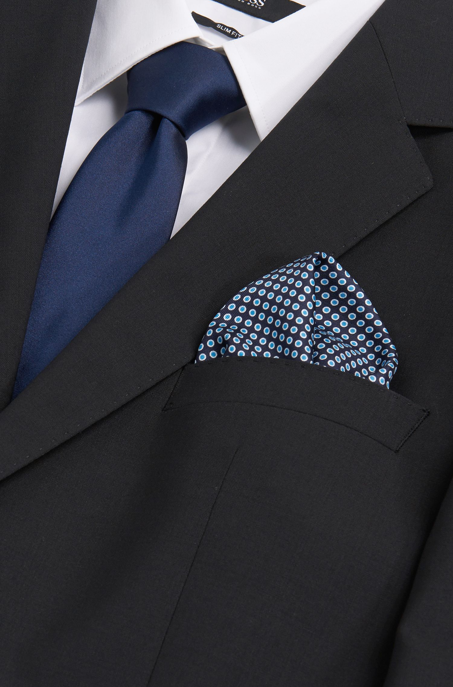 Pochette à pois en soie: «Pocket sq.33x33cm»