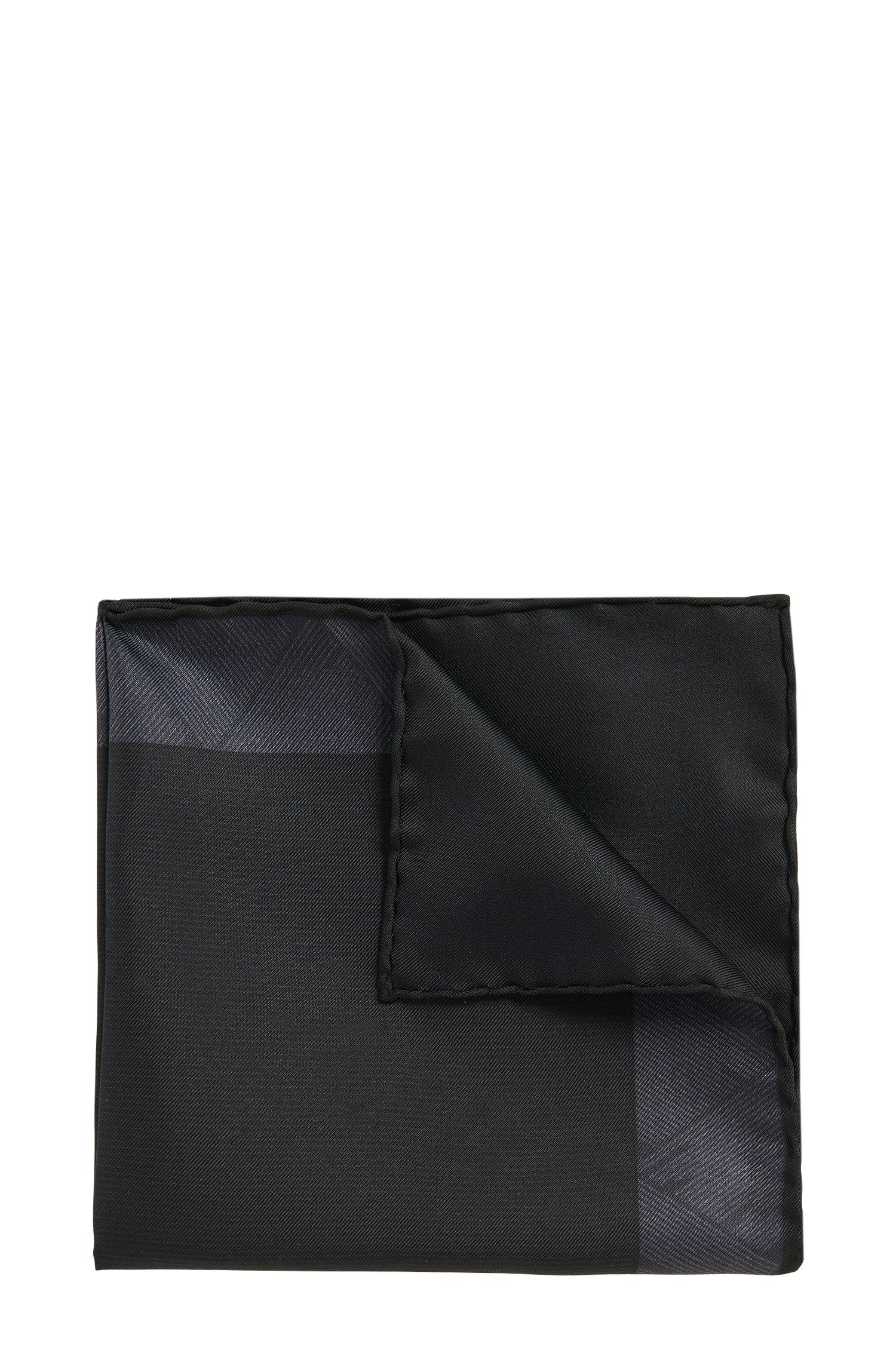 Dezent gemustertes Tailored Einstecktuch aus Seide: 'T-Pocket sq. cm33x33'