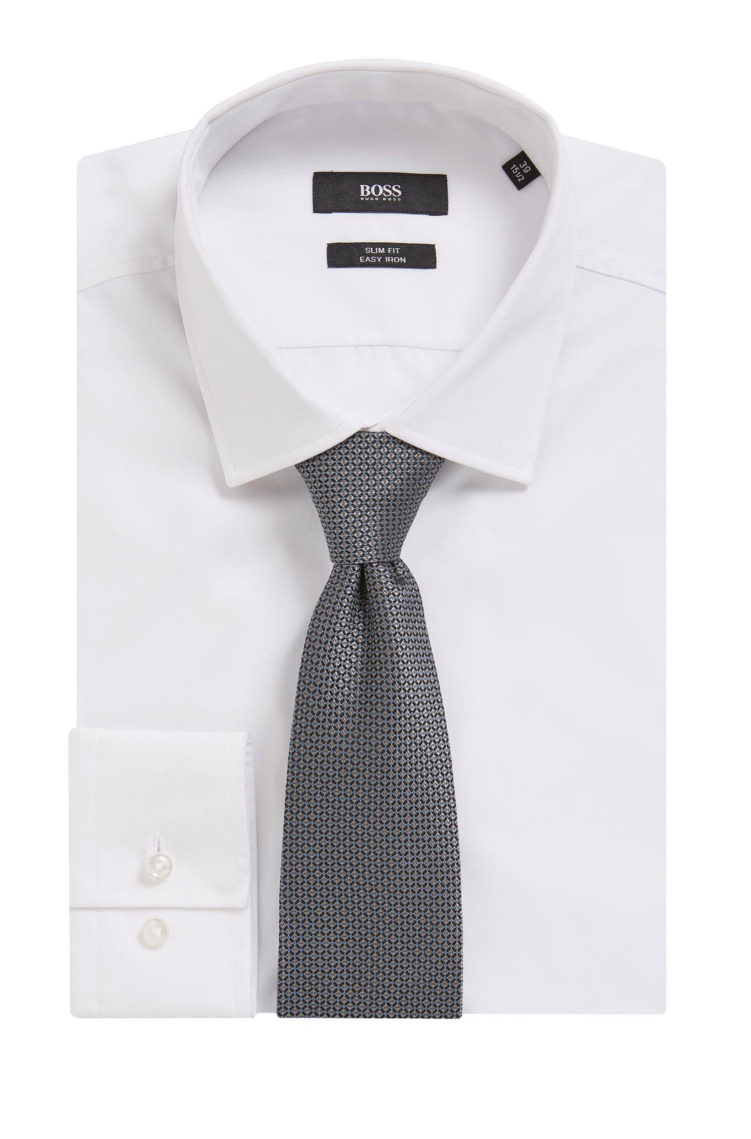 Fein gemusterte Tailored Krawatte aus Seide: 'T-Tie 7,5 cm'