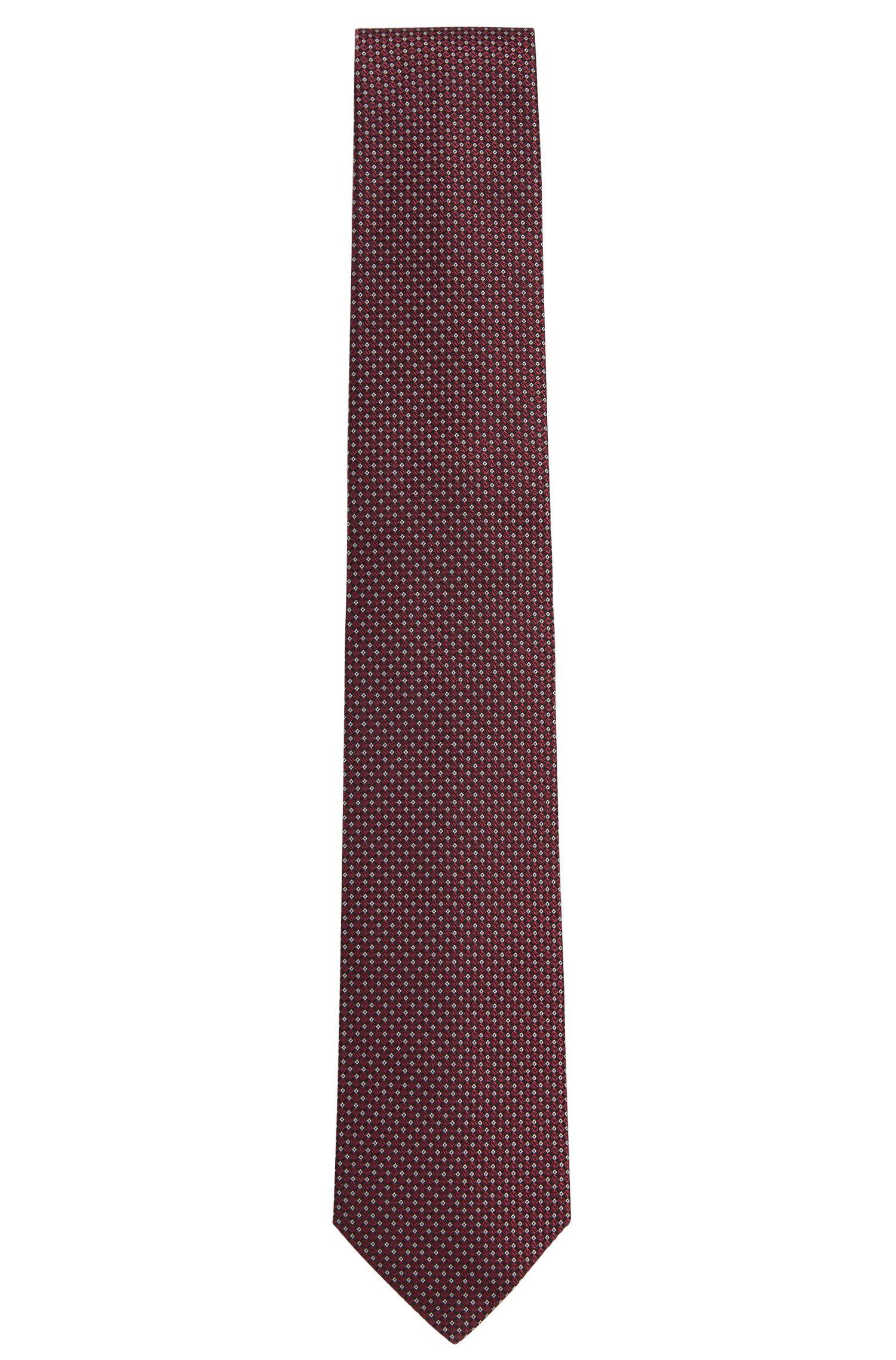Corbata de la línea Tailored con fino estampado en seda: 'T-Tie 7,5 cm'