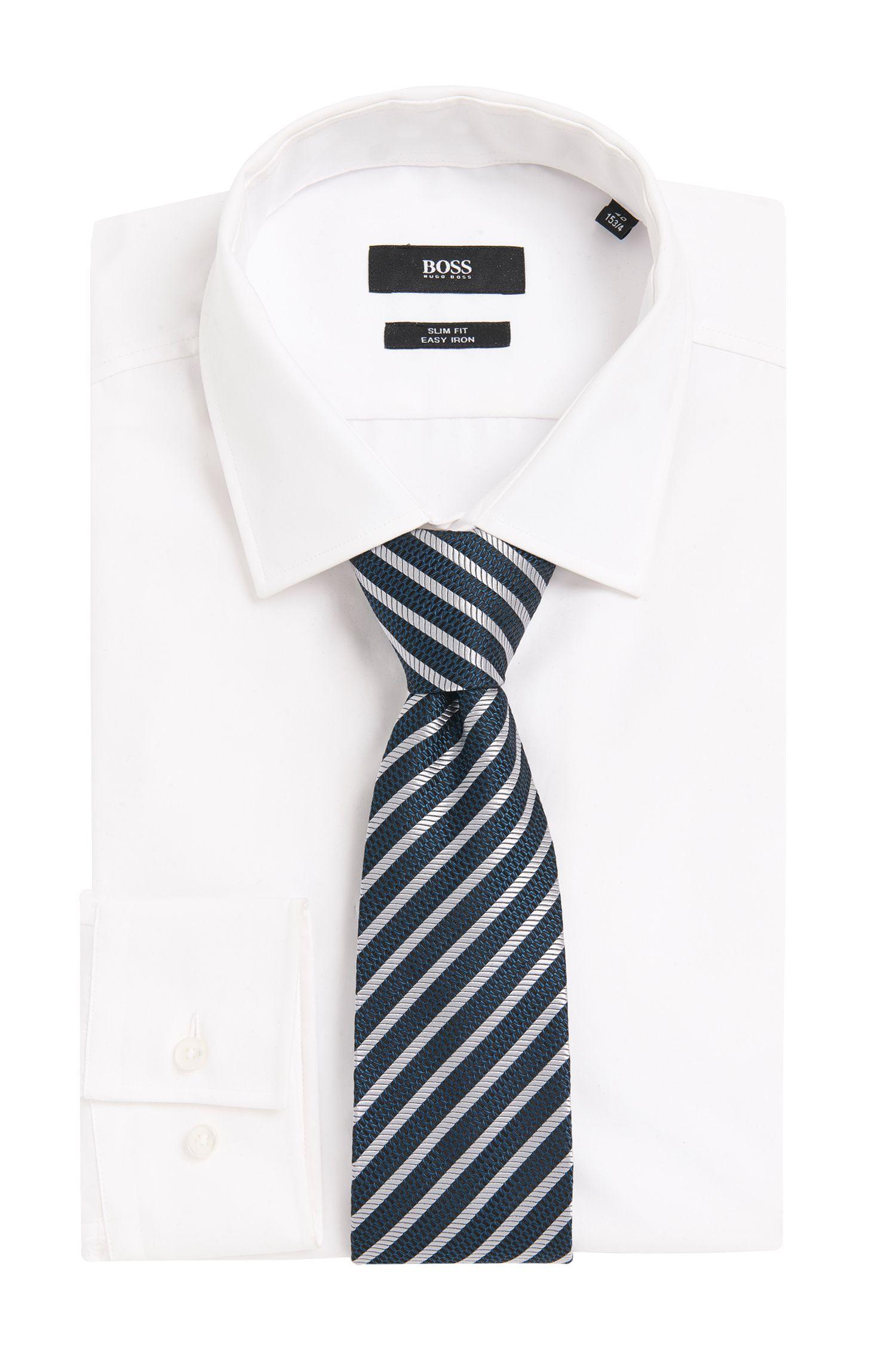 Gestreifte Tailored Krawatte aus reiner Seide: 'T-Tie 7,5 cm'