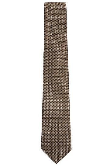 Allover gemusterte Tailored Krawatte aus Seide: 'T-Tie 7,5 cm', Grün
