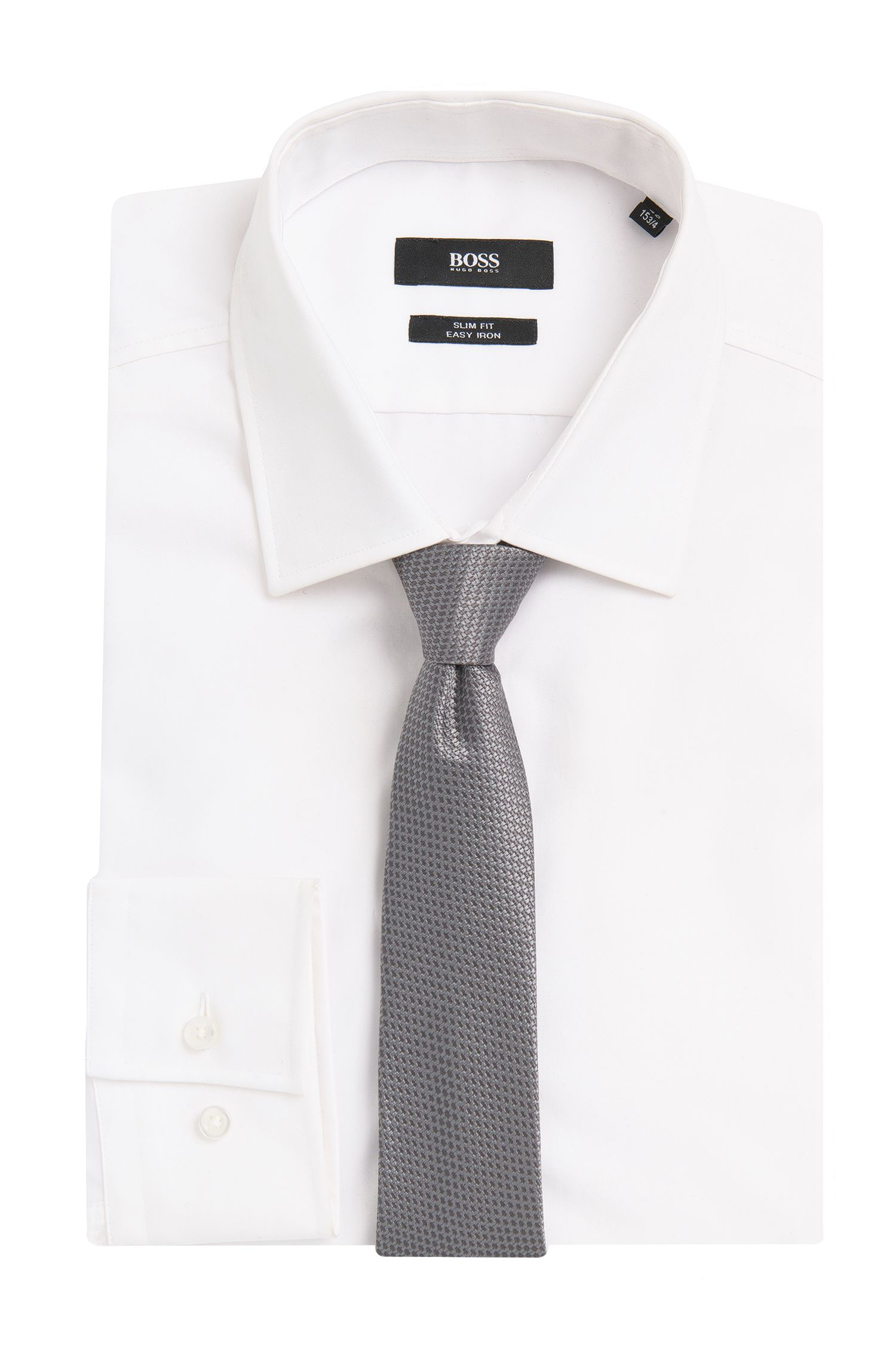 Cravate Tailored en soie à motif: «T-Tie6cm»