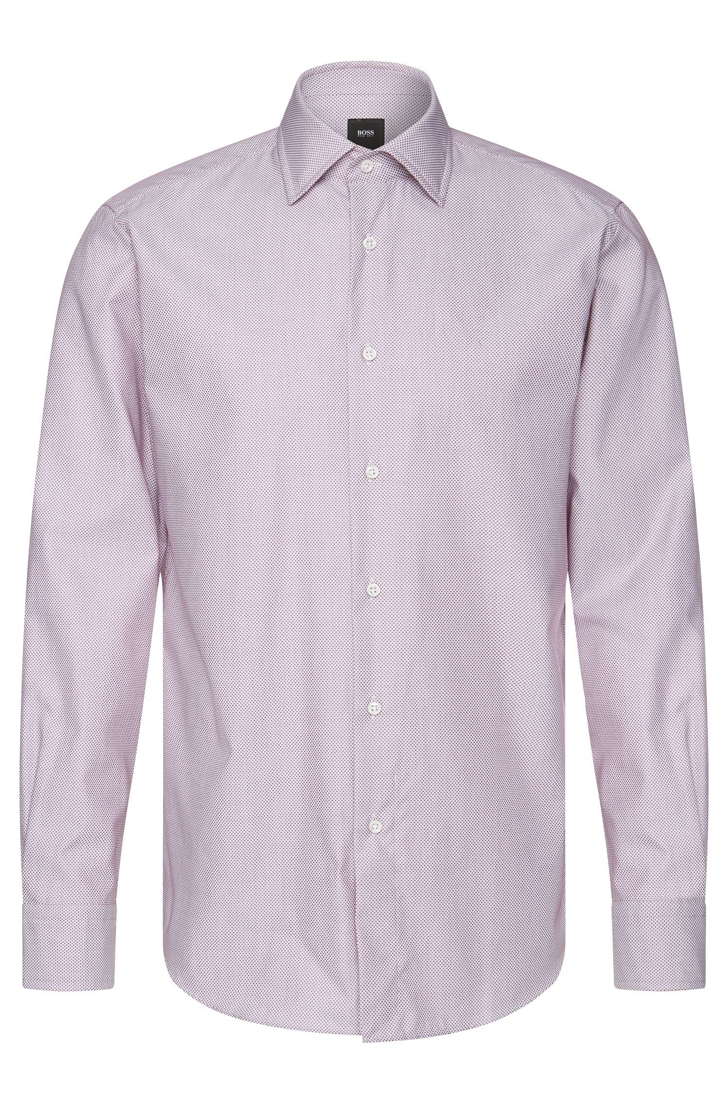 Finely patterned regular-fit Tailored shirt in cotton: 'T-Stuart'