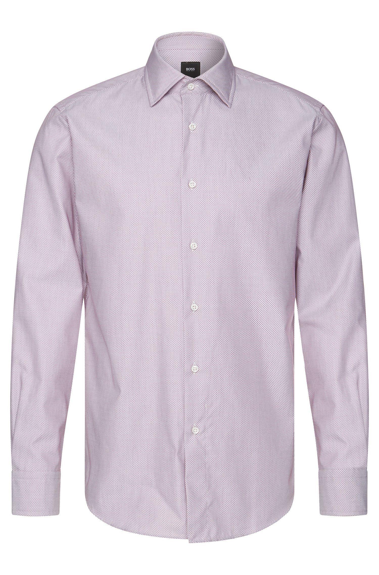 Chemise Regular Fit en coton, à motif raffiné: «T-Stuart»