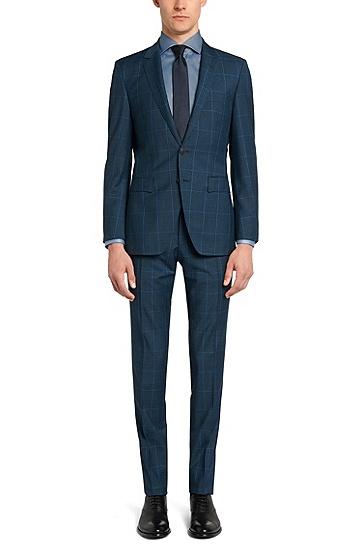 Fein gemustertes Slim-Fit Tailored Hemd aus Baumwolle: 'T-Christo', Türkis