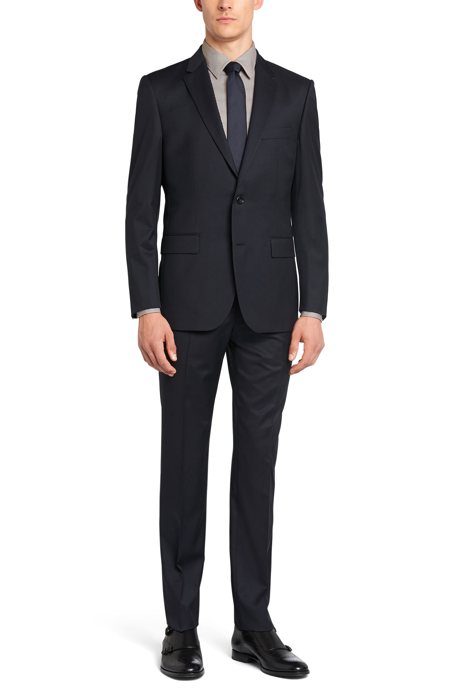 Gestreiftes Slim-Fit Tailored Hemd aus Baumwoll-Mix: 'T-Clint'