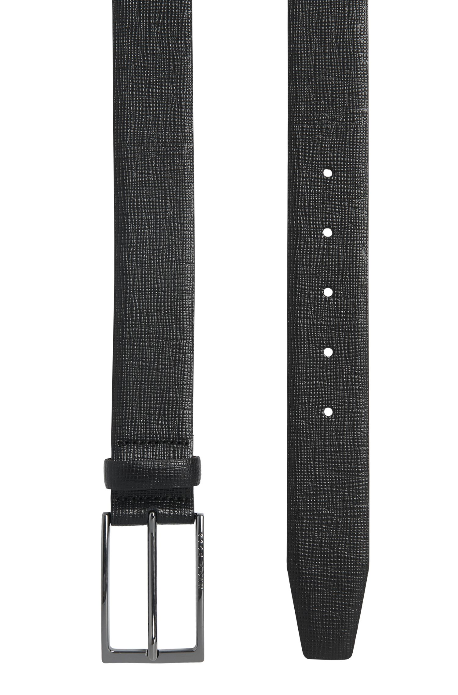 Gürtel aus Leder mit Saffiano-Prägung: 'Naux-G_Sz35_ltem'