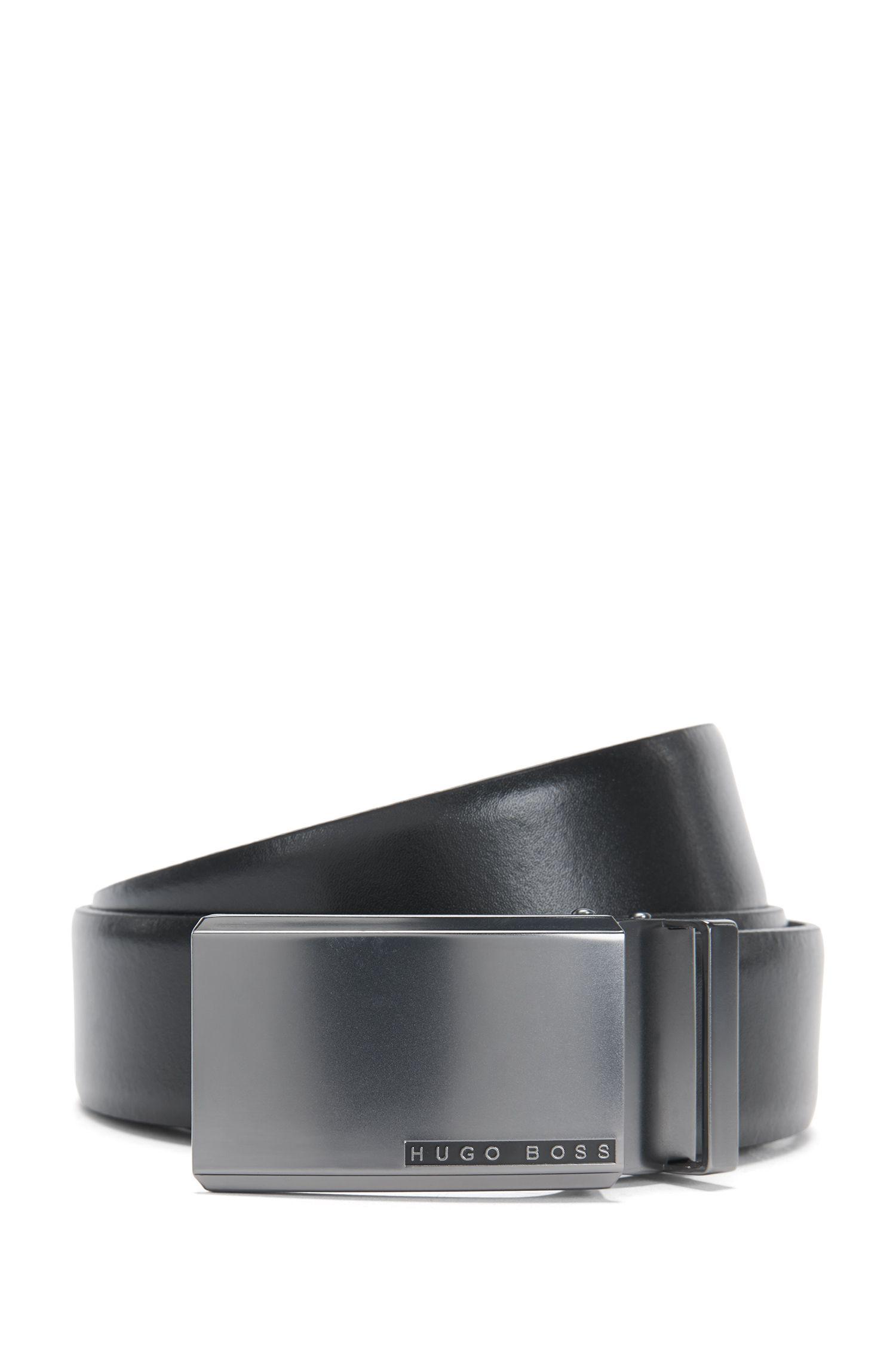 Wendegürtel aus Leder mit austauschbaren Schließen: 'Gert_Gb35_ps'