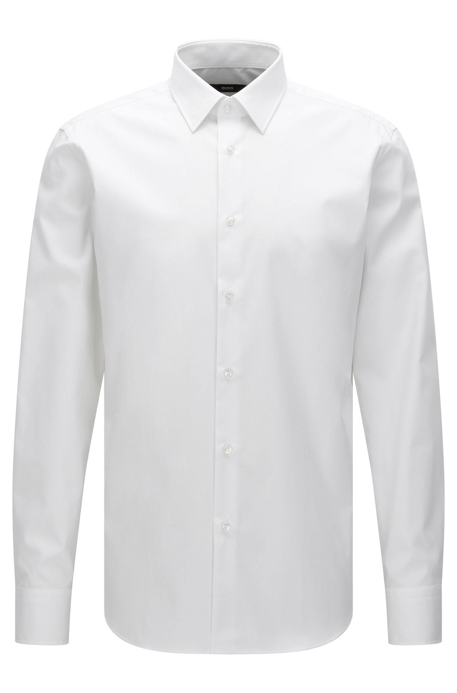 Chemise Regular Fit unie en coton : « Enzo »