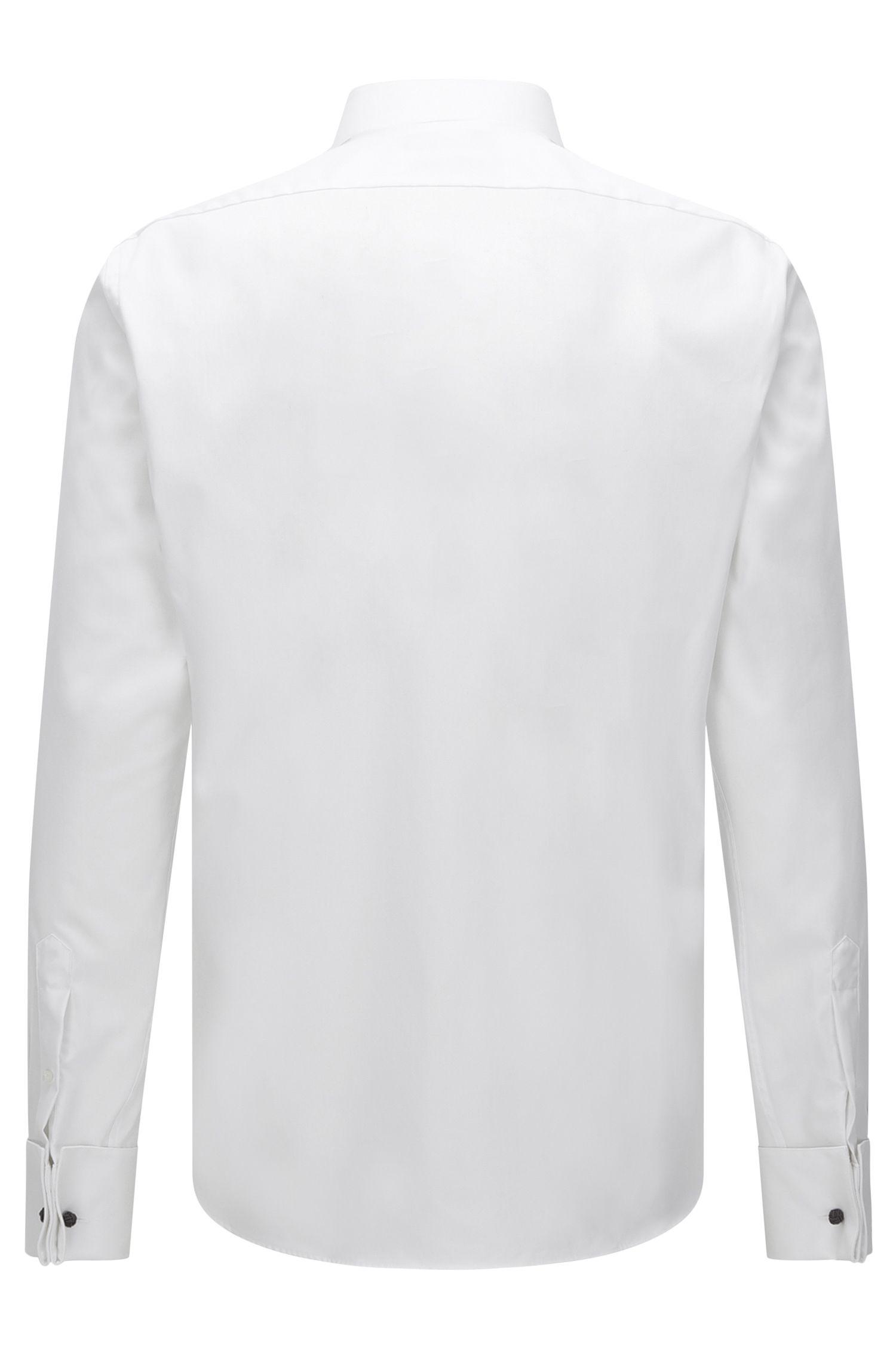 Regular-Fit Smokinghemd aus Baumwolle mit Posamentenknöpfen: 'Gewen'