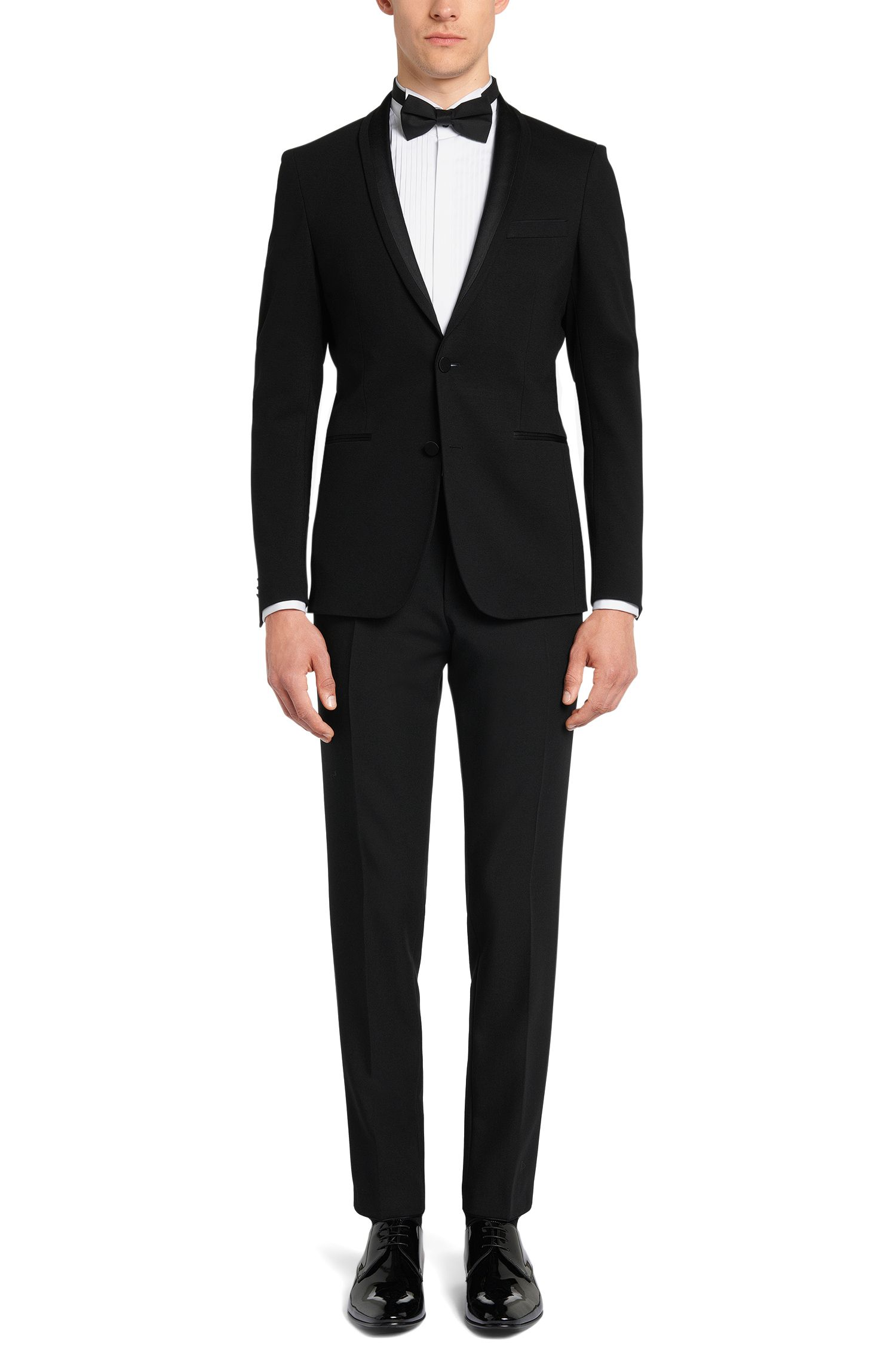 Slim-Fit Hemd aus reiner Baumwolle mit Biesenbesatz: 'Javer'