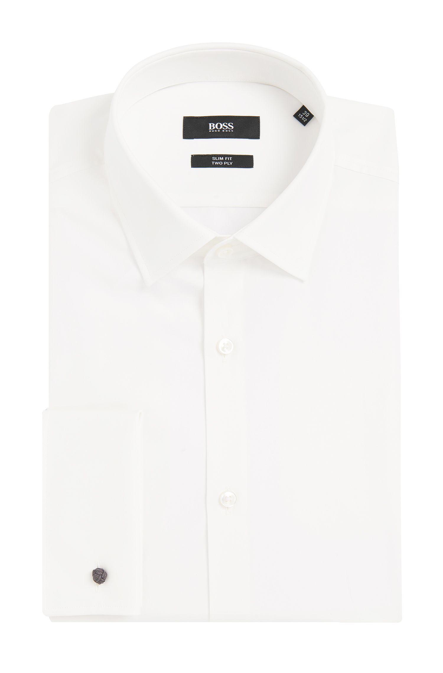 Slim-Fit Hemd aus Baumwolle mit Umschlagmanschetten: 'Jacques'