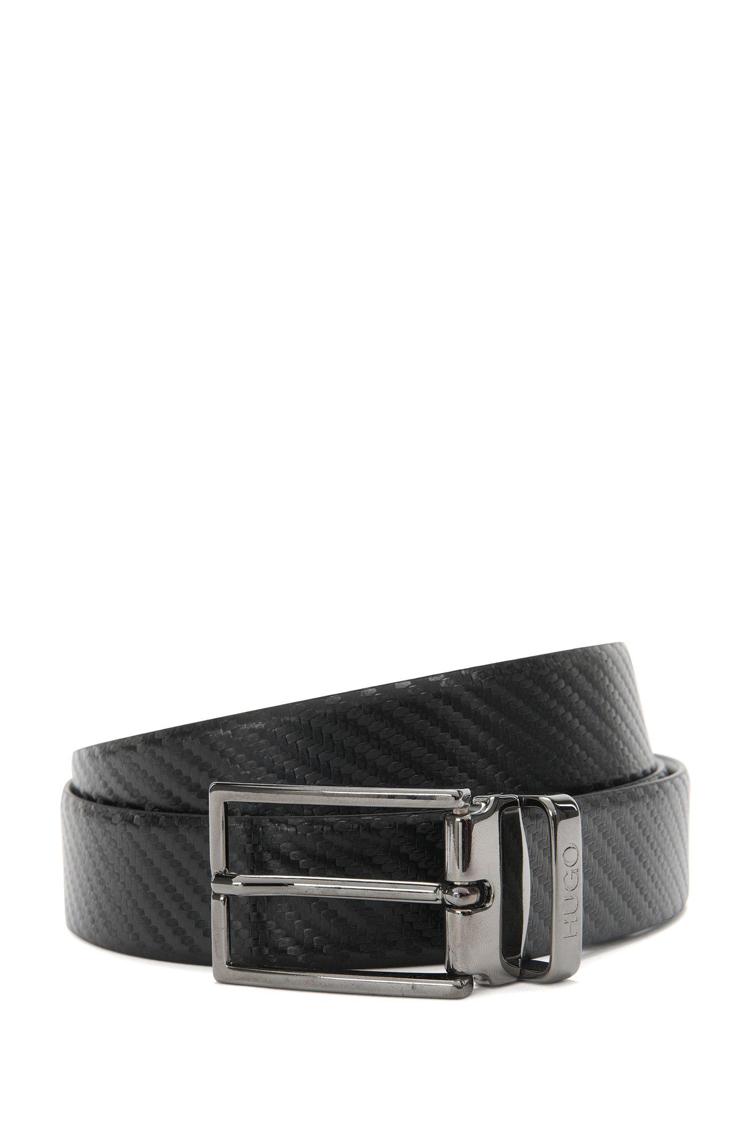 Wendegürtel aus Leder mit zwei Schnallen: 'Giasone_Gb30_ps'