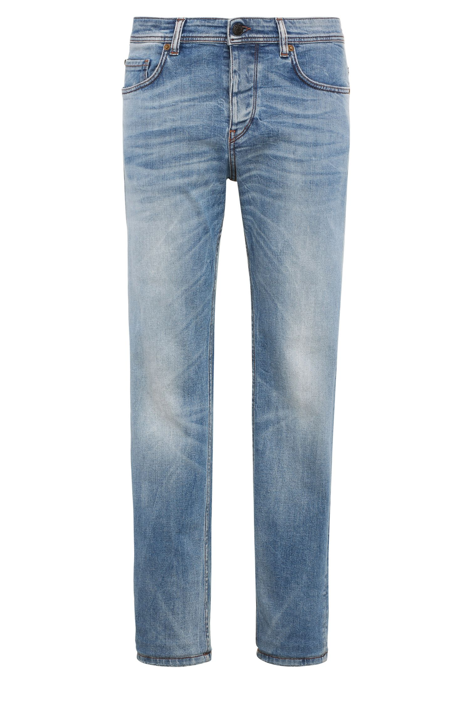 Jeans tapered fit in cotone elasticizzato: 'Orange90'