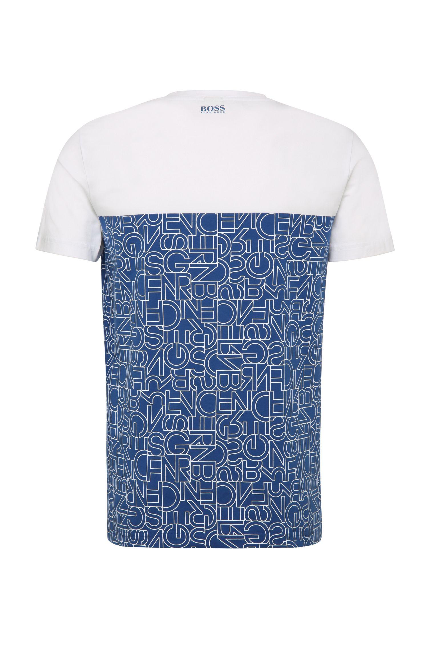 Slim-Fit Print-Shirt aus elastischer Baumwolle: ´Tarsos`