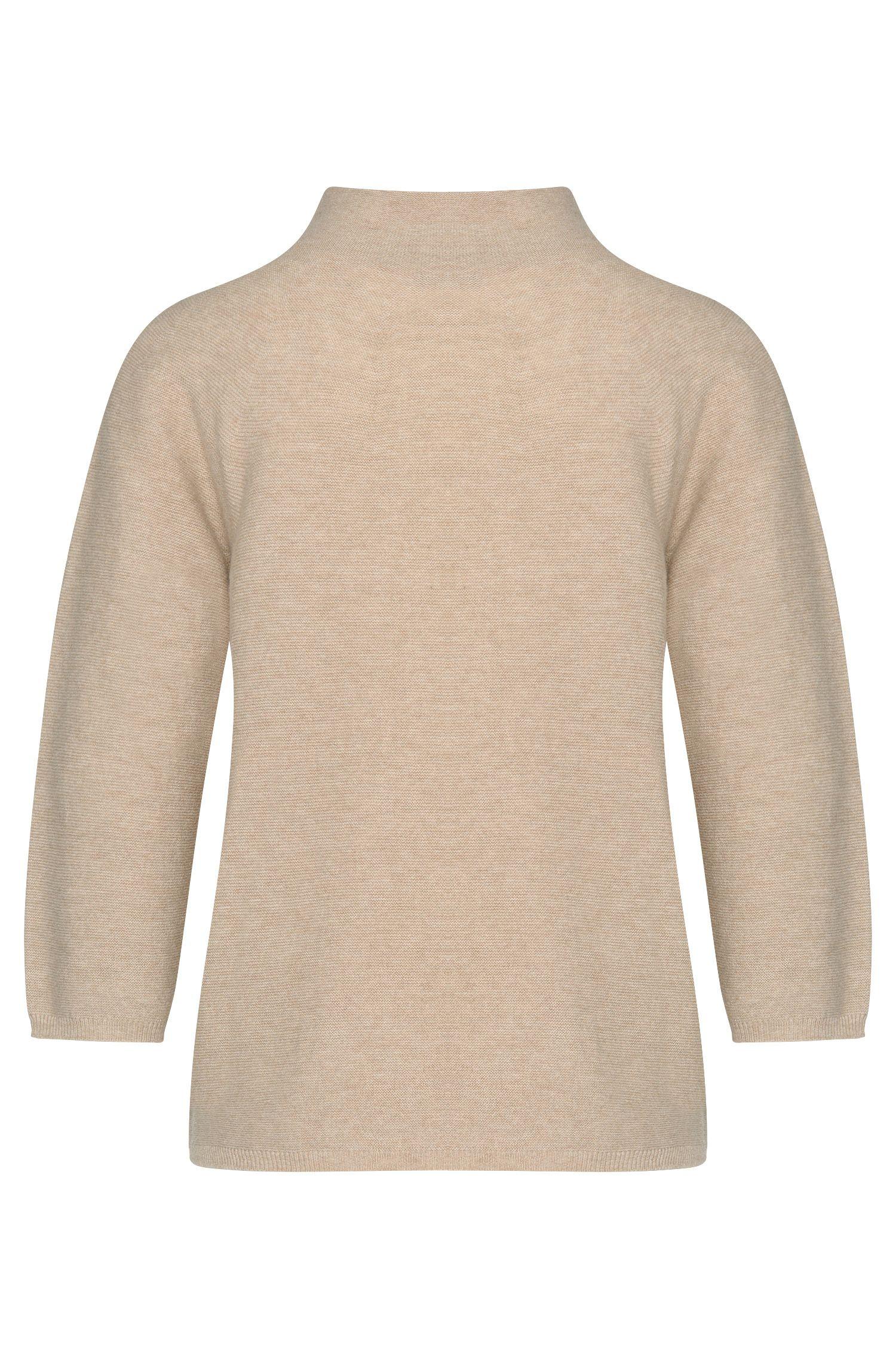 Pullover aus Schurwoll-Mix mit Kaschmir und Stehkragen: 'Framke'