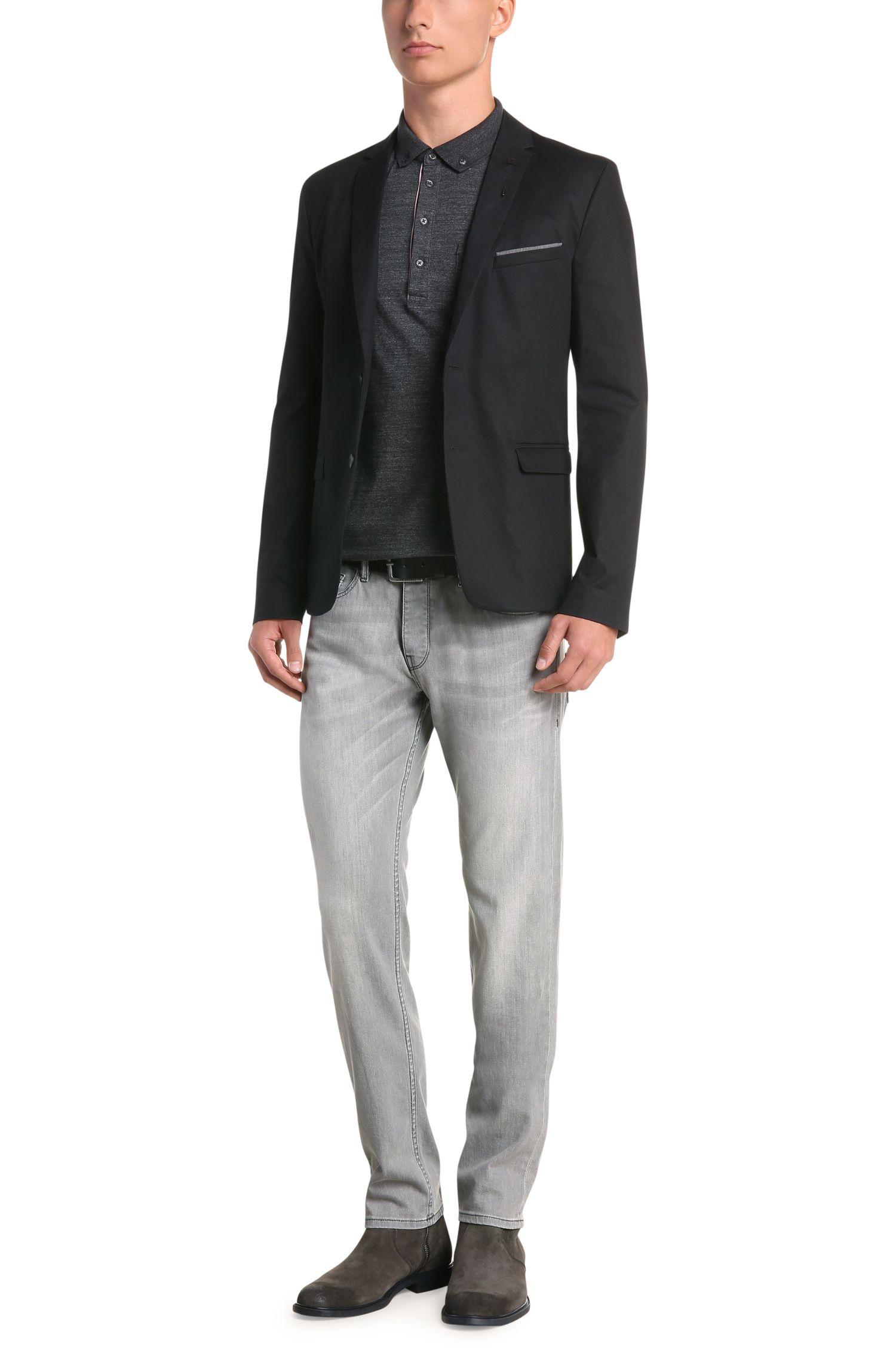 Tapered-fit jeans van elastisch katoen: 'Orange90'
