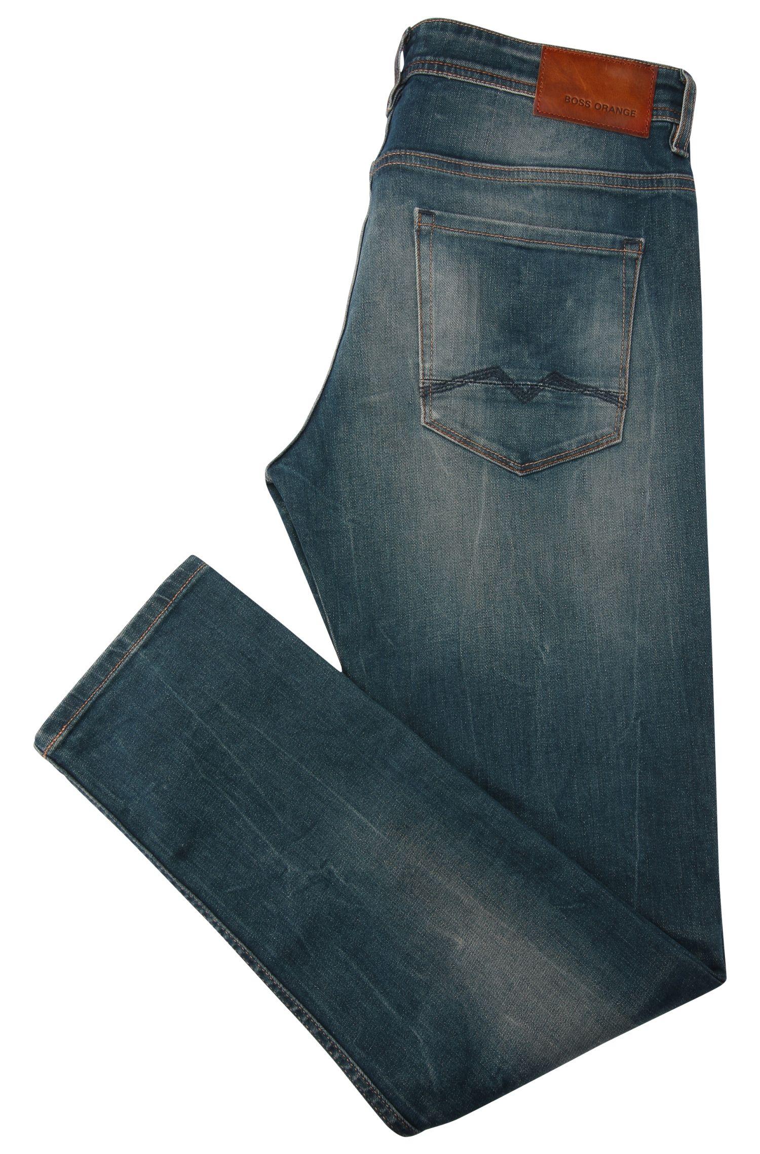Verwaschene Tapered-Fit Jeans aus elastischer Baumwolle: ´Orange90`