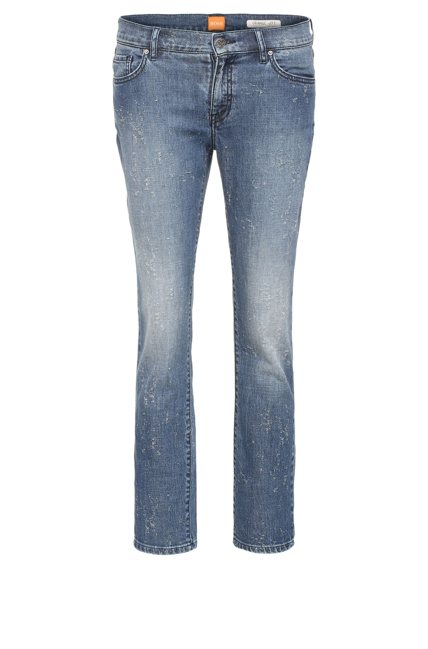 Jeans Regular Fit en coton extensible : « Orange J31 Odessa »