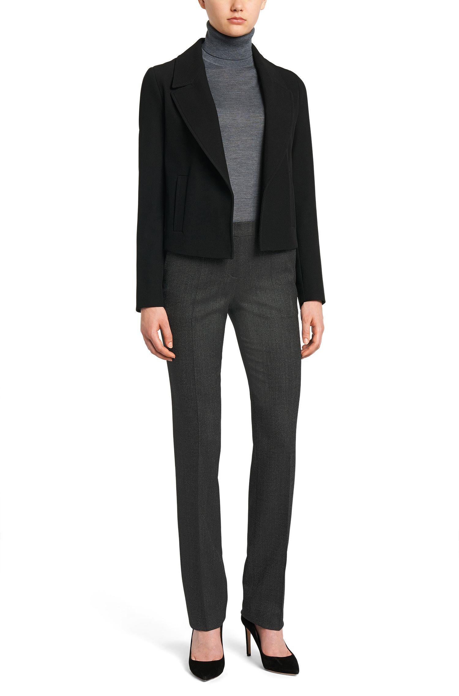 Pantalon à motif en laine vierge stretch: «Tamea1»