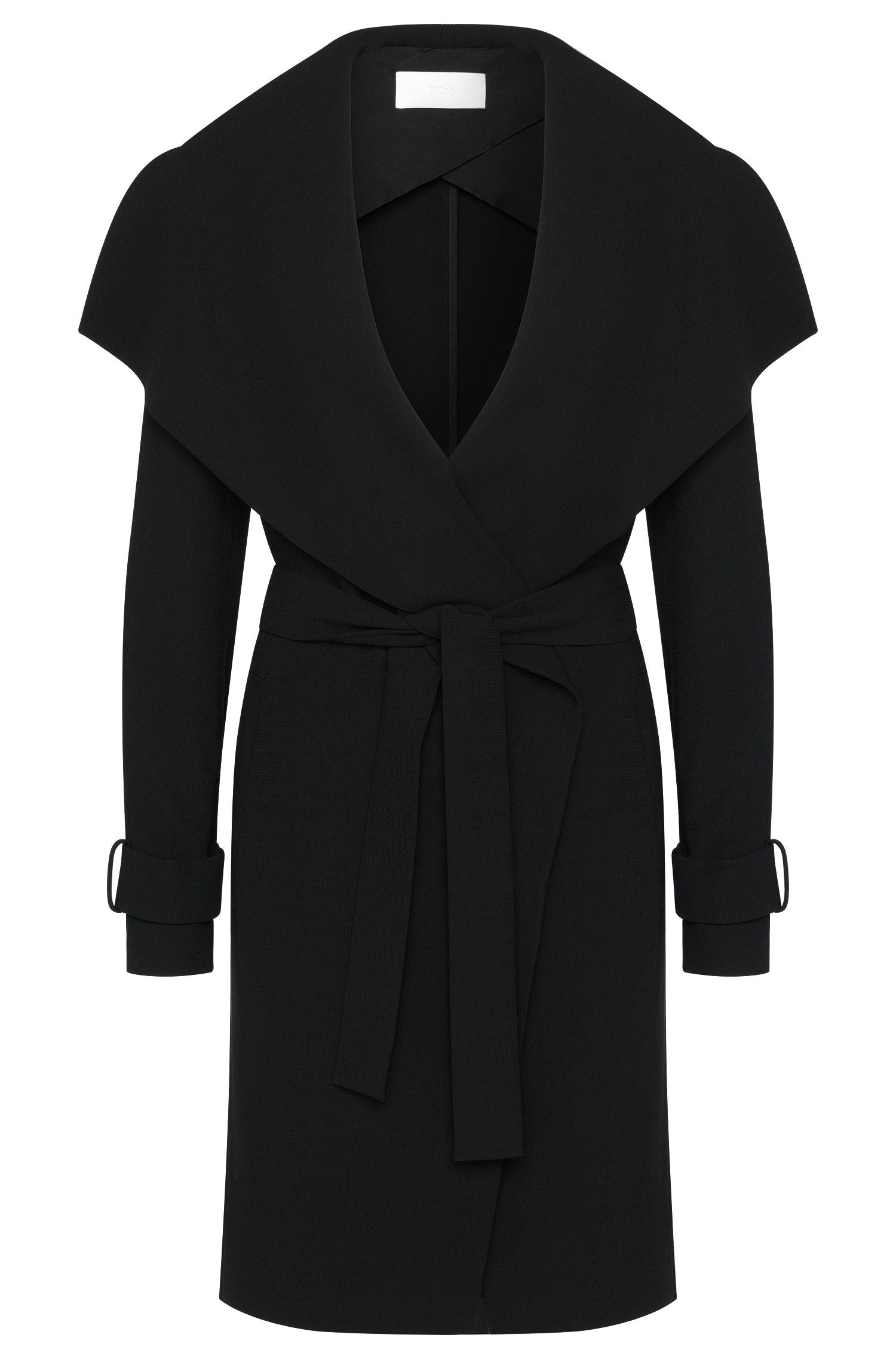 Plain coat with wide shawl collar: 'Claresa'
