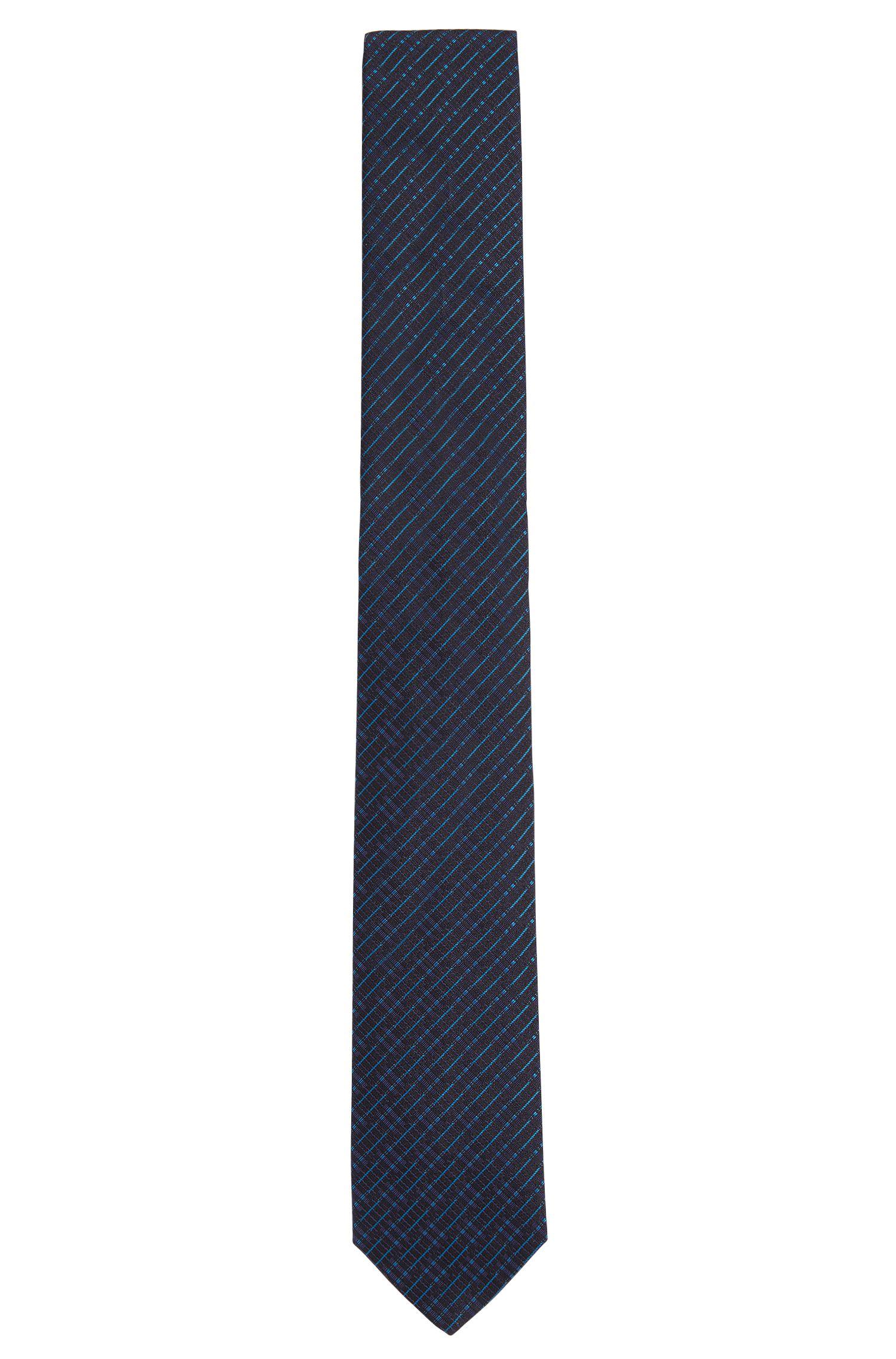 Stropdas van zuivere zijde met dessin uit de Tailored-collectie: 'T-Tie 6 cm'