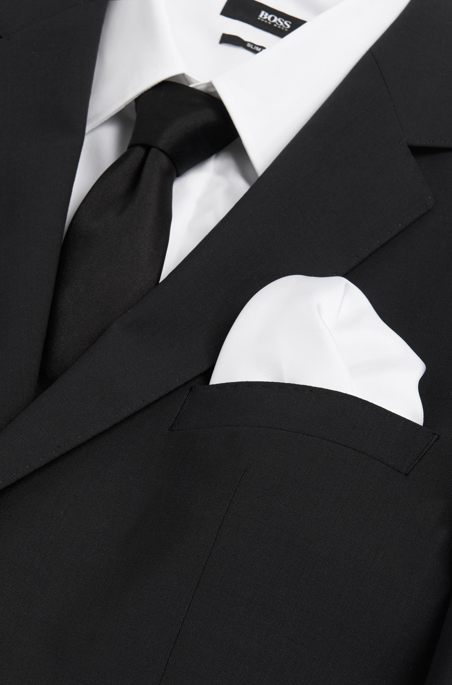 Pochette unie en soie: «Pocket sq.33x33cm»