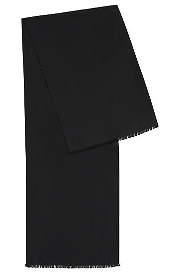 Unifarbener Schal aus Seide: 'Scarf cm 140x35', Schwarz