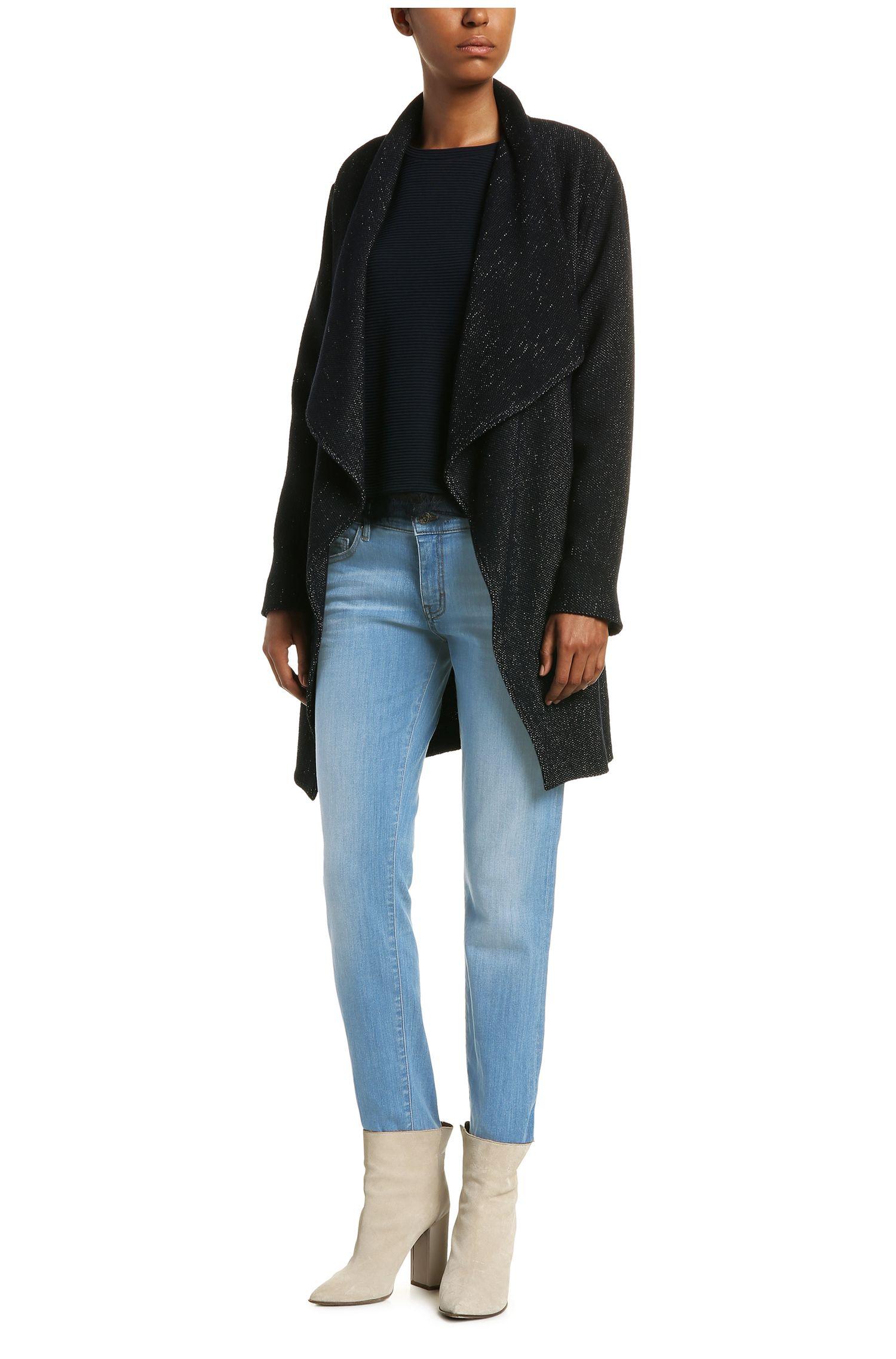 Regular-Fit Jeans aus elastischem Baumwoll-Mix mit hohem Bund: ´Orange J31 Odessa`