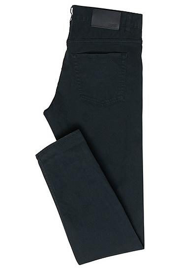 "Slim-Fit Jeans aus Stretch-Baumwolle: ""Delaware4-20"", Dunkelblau"