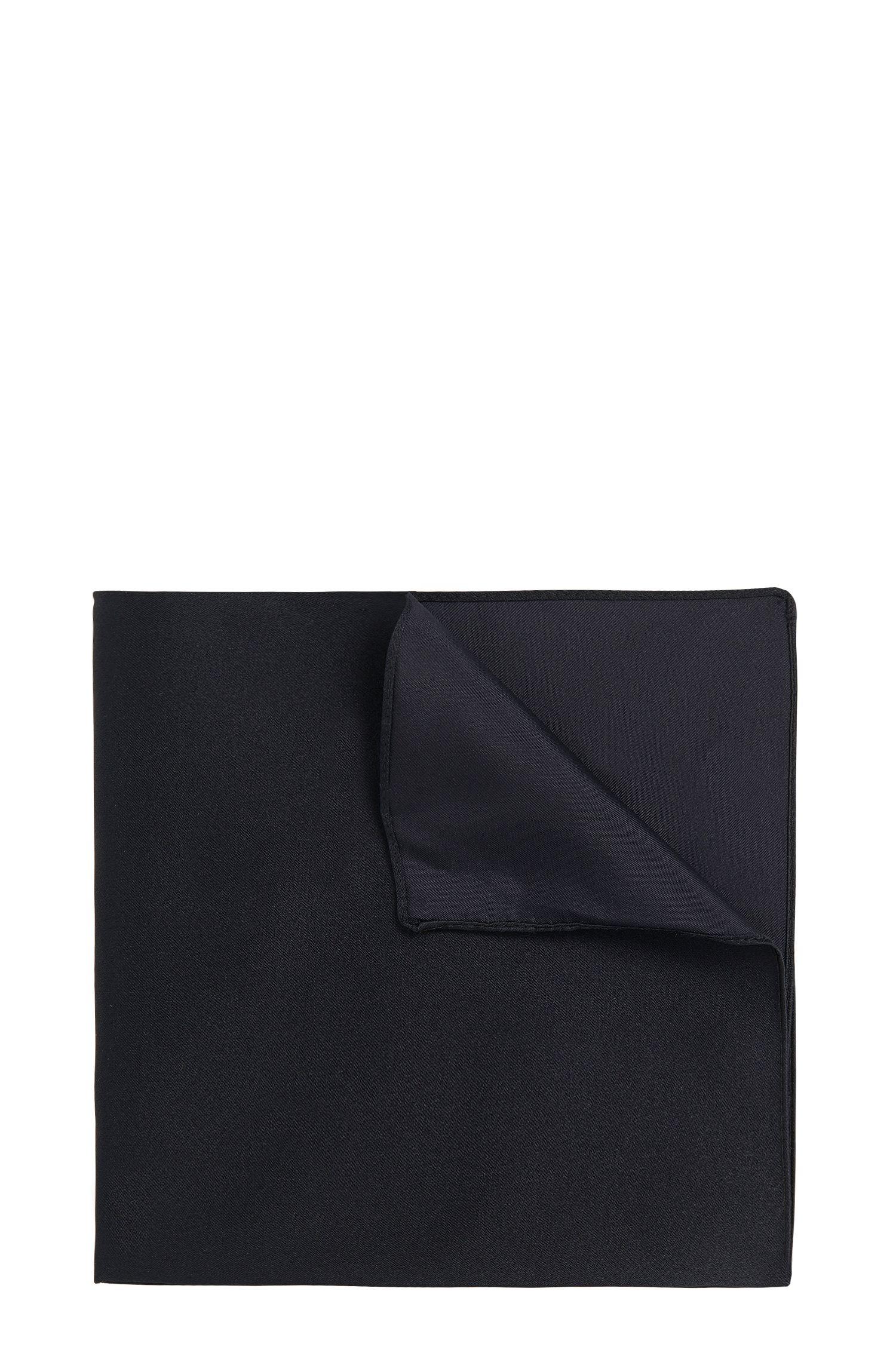Pañuelo de bolsillo liso en seda: 'Pocket sq. 33x33 cm'