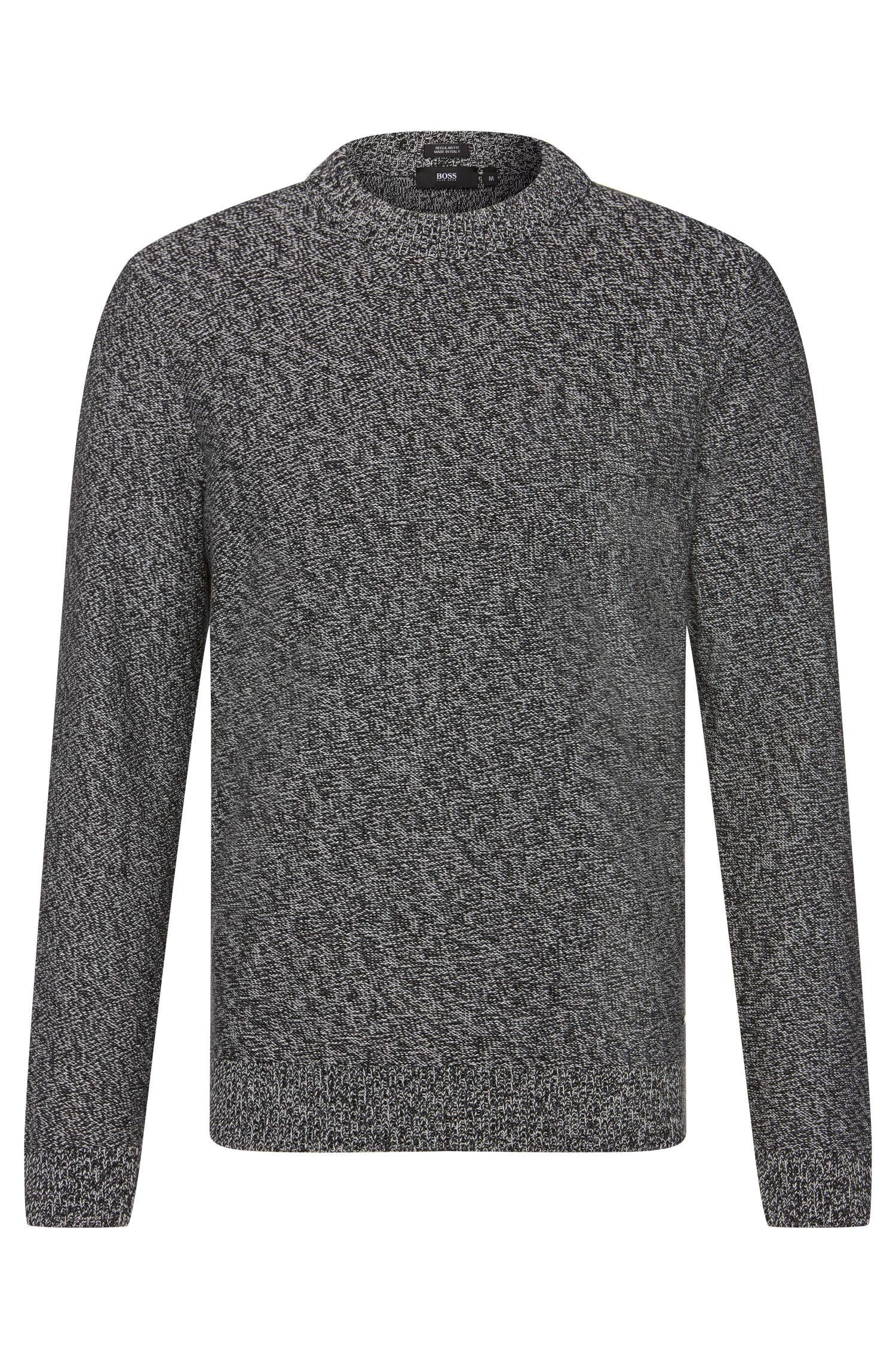 Melierter Regular-Fit Pullover aus Baumwolle: 'Igus'