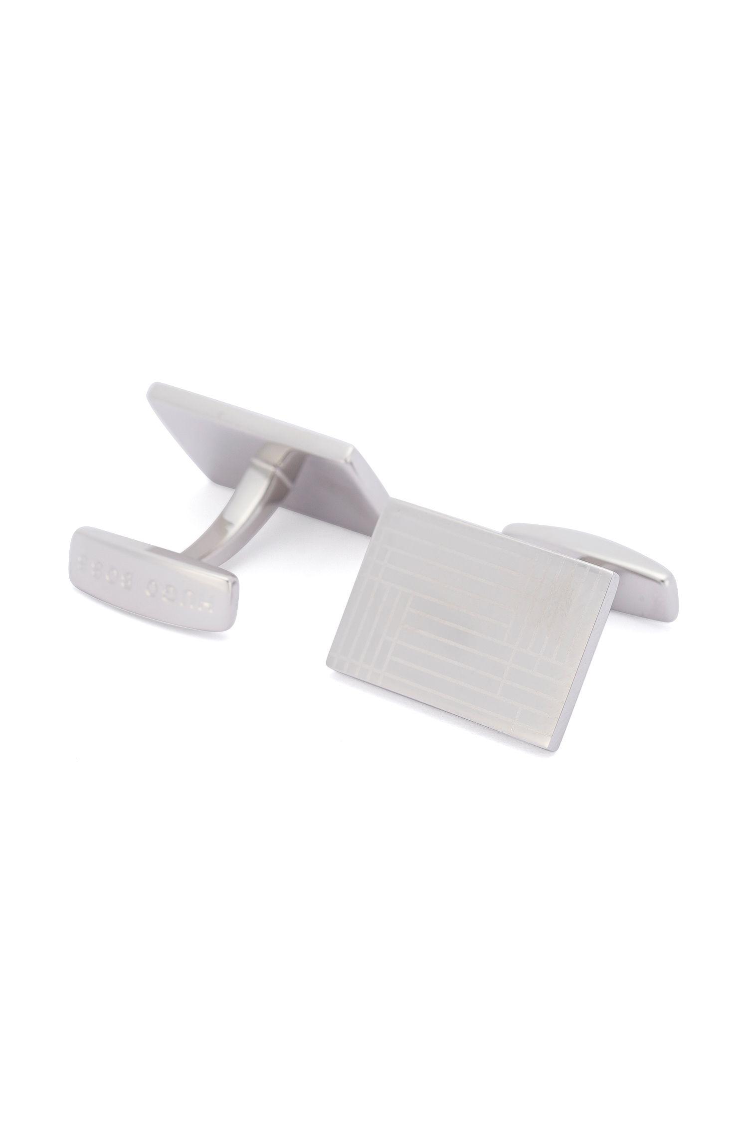 Gemelos rectangulares de latón: 'Charles'
