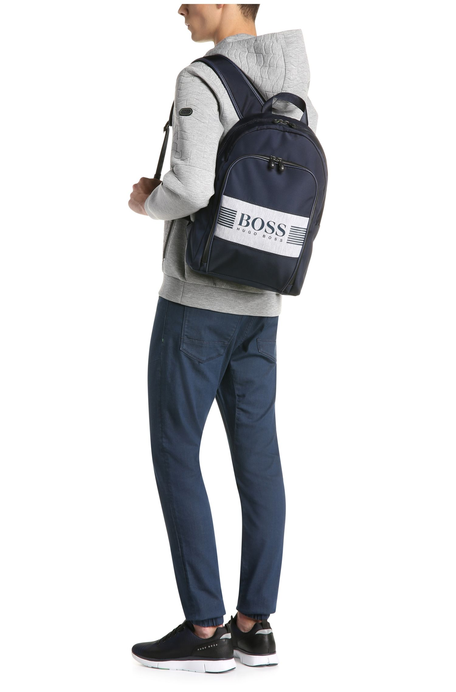 Sac à dos en nylon structuré avec du jersey: «Pixel JBackpack»