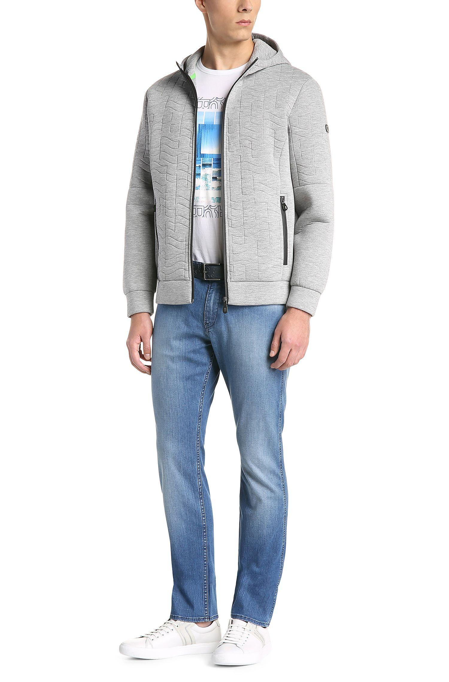 Slim-Fit Jeans aus verwaschener Stretch-Baumwolle: ´C-DELAWARE1`