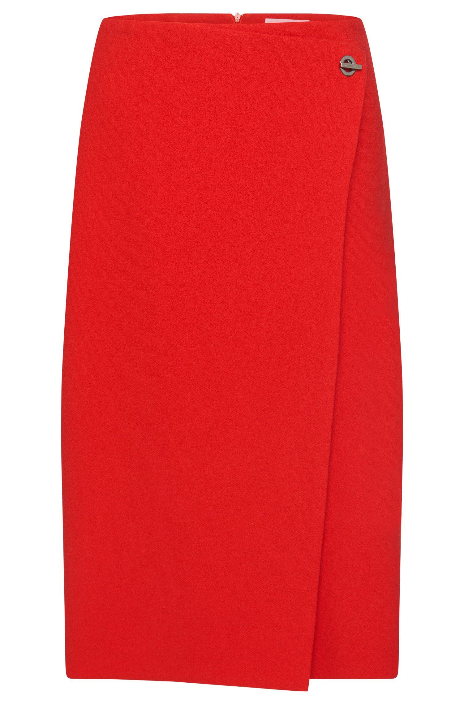 Skirt in wool blend in a wrap-around look: 'Vubali'