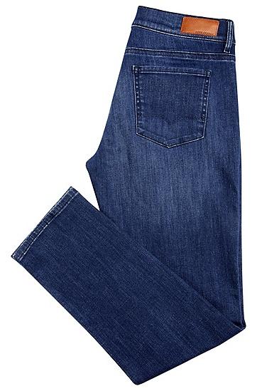 Regular-Fit Jeans aus elastischem Baumwoll-Mix mit hohem Bund: ´Orange J31 Odessa`, Dunkelblau