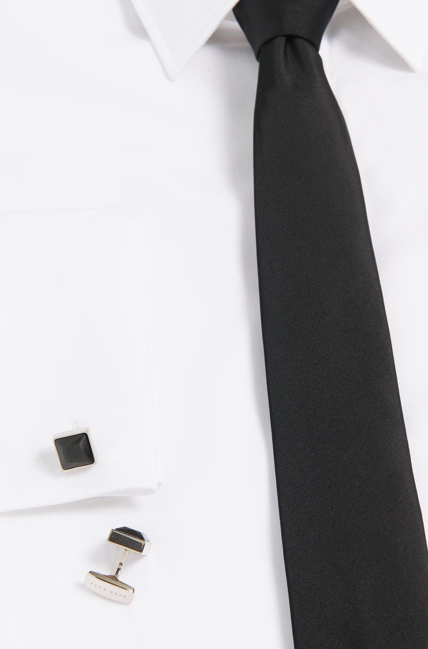 Quadratische Tailored Manschettenknöpfe aus Messing: 'T-Vince'