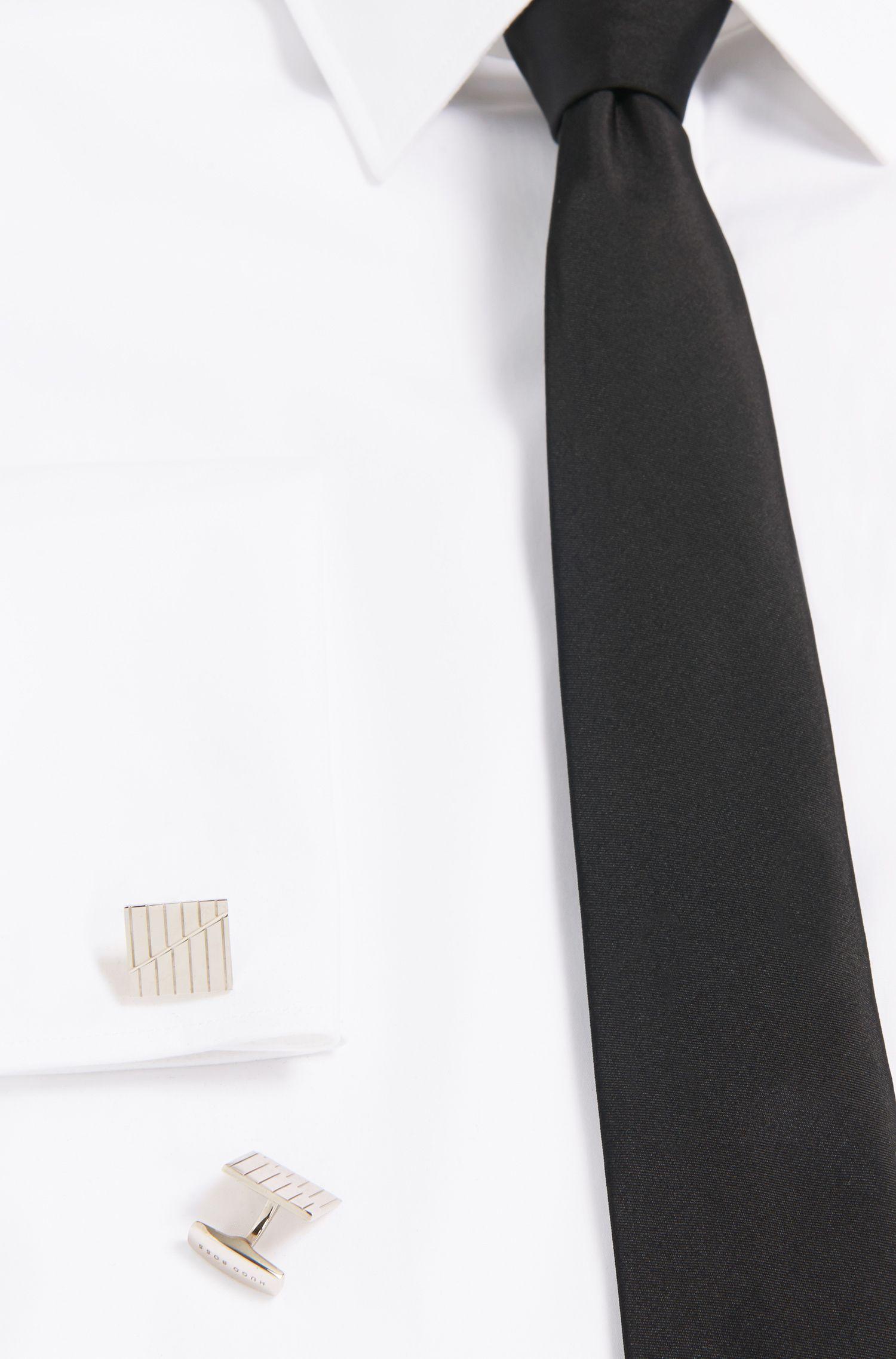 Quadratische Tailored Manschettenknöpfe aus Messing: 'T-George'