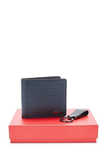 Set aus Geldbörse und Schlüsselanhänger: 'GbH17PS_8 cc key', Gemustert