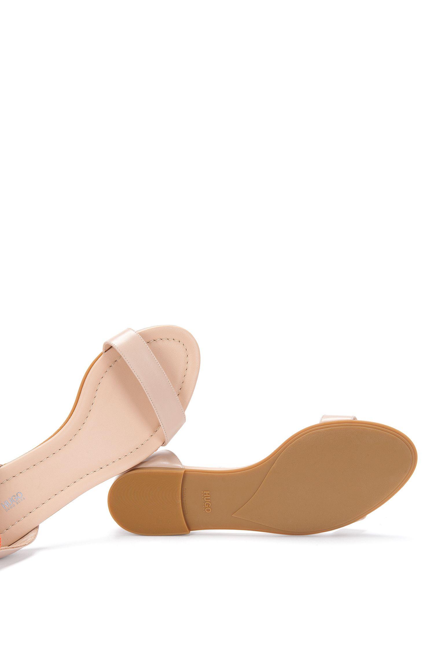 Sandalen aus Leder mit Textil-Bändern: 'Felix'